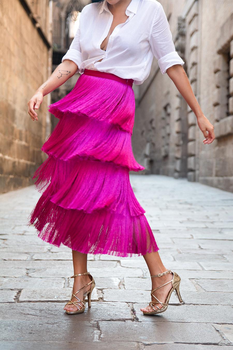 Como-usar-una-falda-de-flecos,-ideas-de-looks-usando-falda-de-flecos