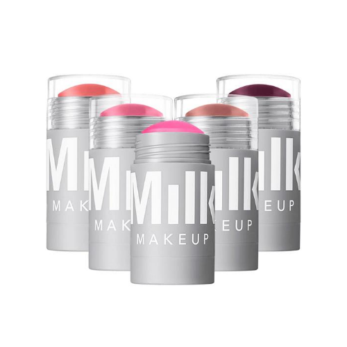 maquillaje para la playa, cheeks + lips, milk, barra de color